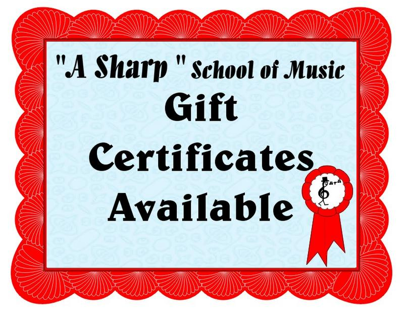 Music Lessons Gift Certificate